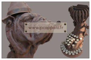 Carte de visite (verso) artiste sculpteur
