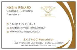 Logo + carte de visite (recto) société de coaching