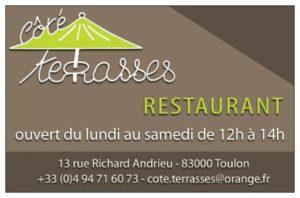 Carte de visite (recto) restaurant